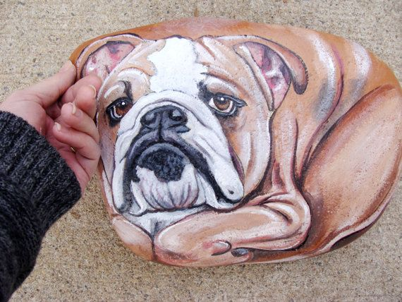 Bulldog Rock...these are the BEST Rock Painting Ideas!
