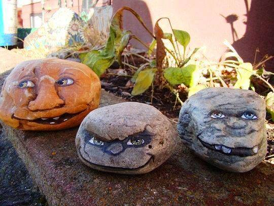 Garden Faces Painted Rocksthese Are The BEST Rock Painting Ideas