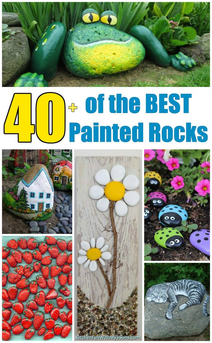 Over 40 of the best rock painting ideas kitchen fun with for Best paint for yard art