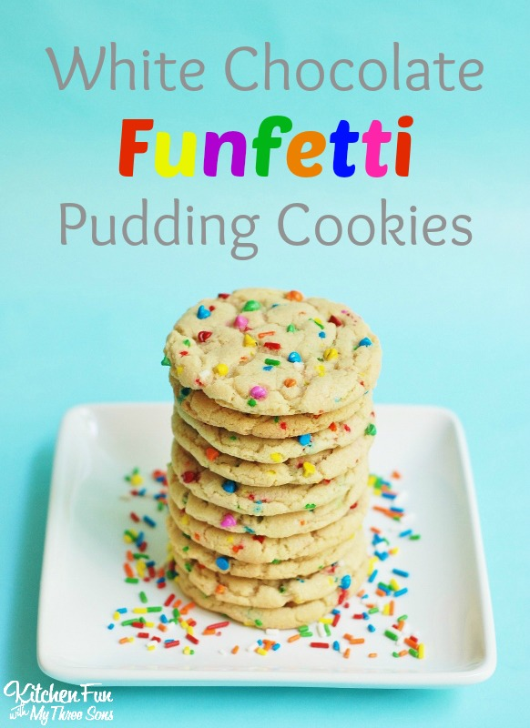 Funfetti White Chocolate Pudding Cookies