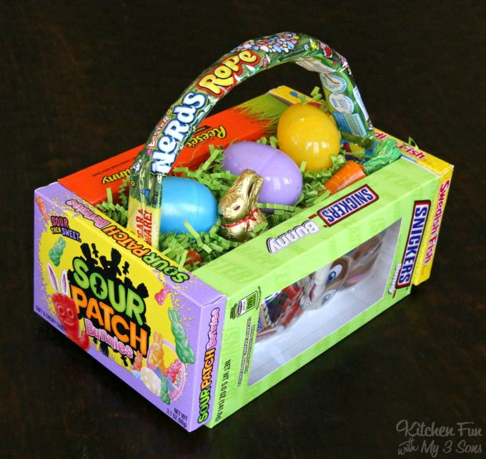 Diy candy easter basket kitchen fun with my 3 sons diy candy easter basket negle Image collections