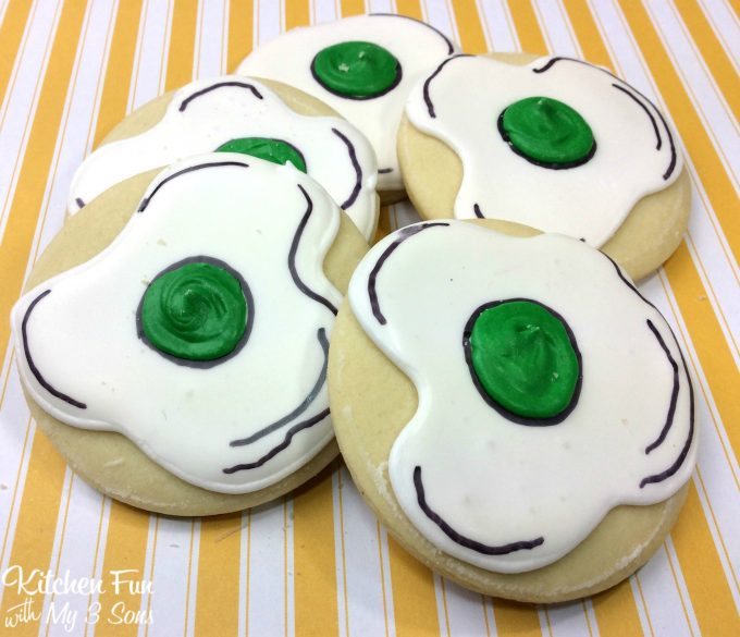 Green Eggs And Ham Dr Seuss Cookies Kitchen Fun With My