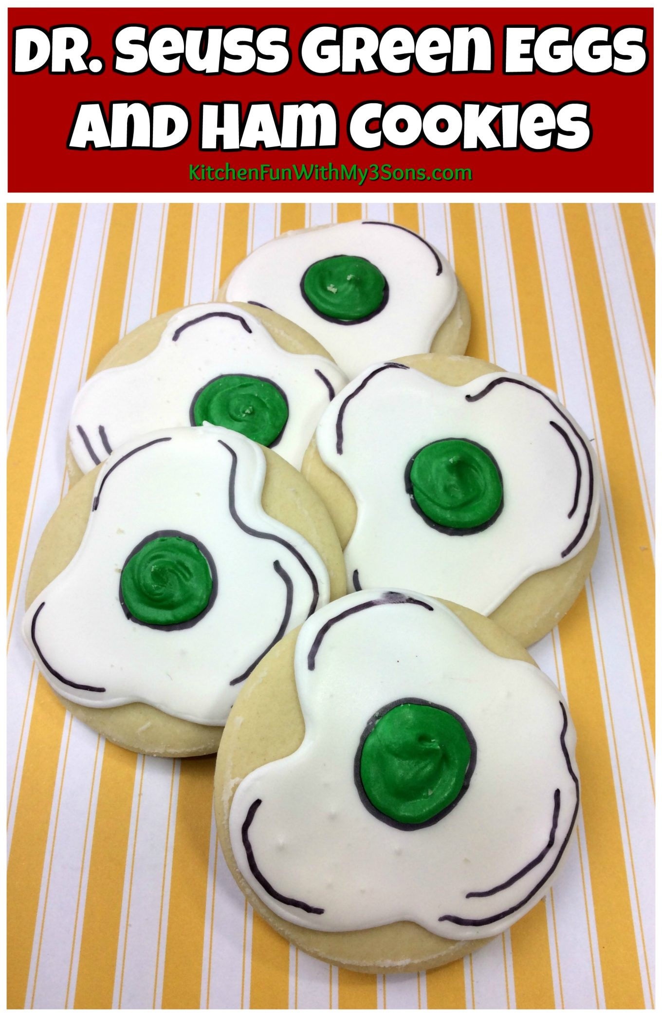 Green Eggs and Ham Dr. Seuss Cookies - Kitchen Fun With My ...