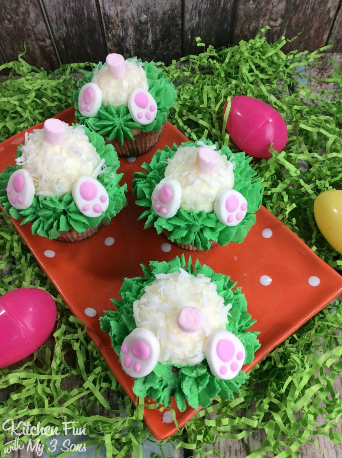Easter Bunny Butt Cupcakes Kitchen Fun With My 3 Sons