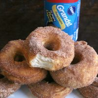 Easy Canned Biscuit Donuts....these cinnamon and sugar doughnuts are SO delicious and easy to make!