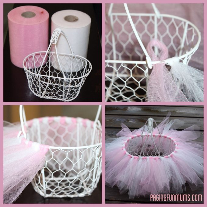 Easy DIY Tutu Basket...these are the BEST Easter Basket Ideas!