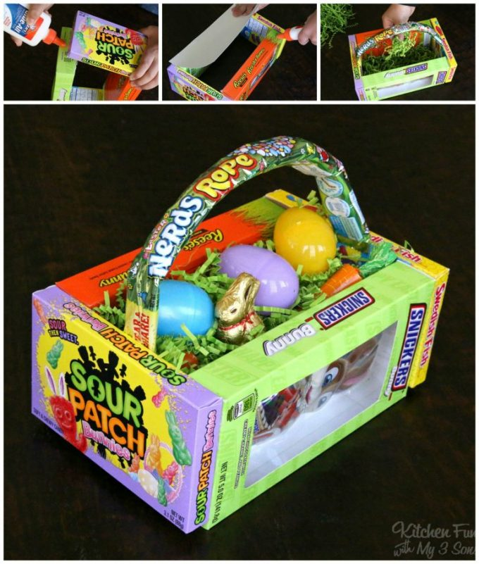 DIY Candy Easter Basket...these are the BEST Easter Basket Ideas!
