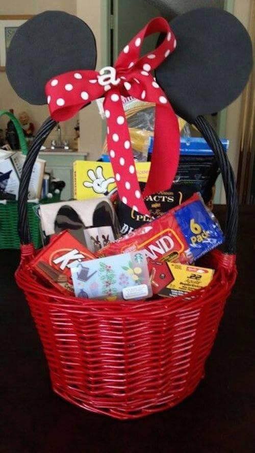 Mickey Mouse Easter Basket...these are the BEST Easter Basket Ideas!
