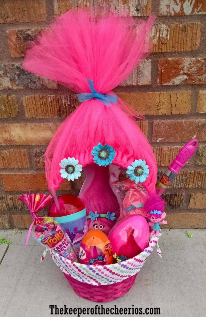 Trolls Themed Easter Basket...these are the BEST Easter Basket Ideas!