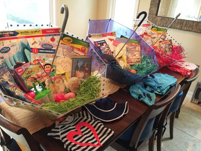 Umbrella Easter Baskets....these are the BEST Easter Basket Ideas!