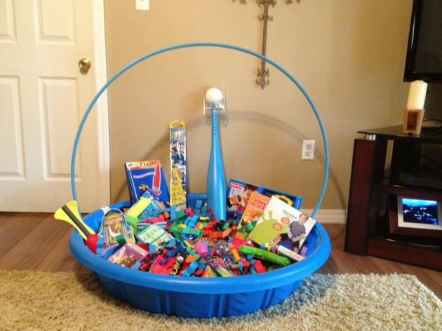 Kiddie Pool Easter Basket...these are the BEST Easter Basket Ideas!