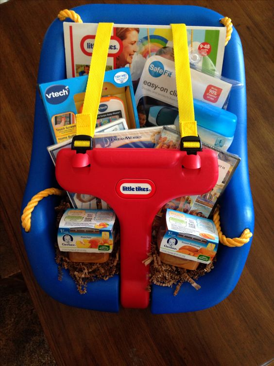 Baby Swing Basket...these are the BEST Easter Basket Ideas!