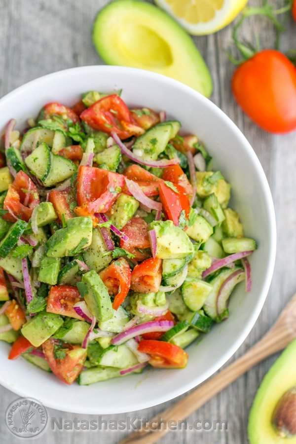 Cucumber Tomato Avocado Salad...these are the BEST Salad Recipes!