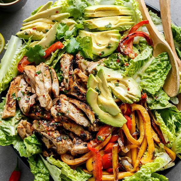 Grilled Chicken Fajita Salad...these are the BEST Salad Recipes!