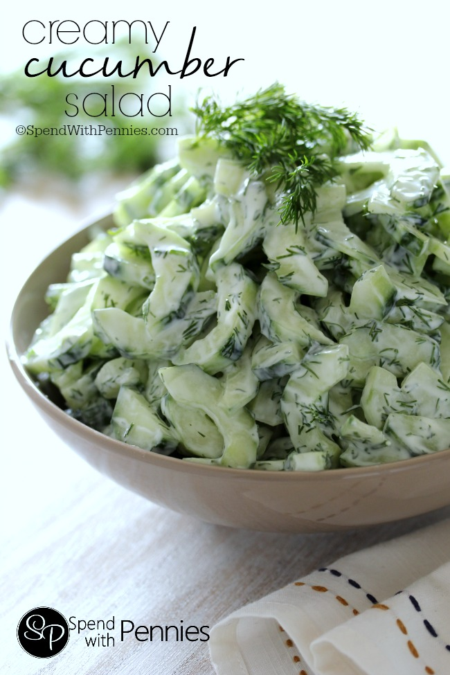 Creamy Cucumber Salad...these are the BEST Salad Recipes!