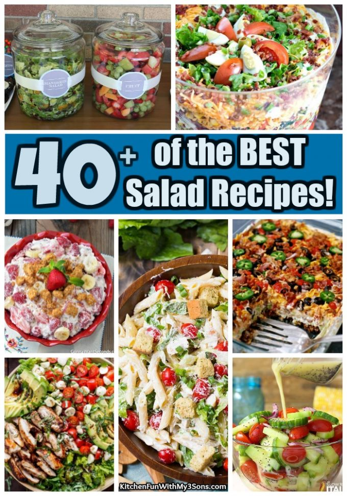 40 Of The Best Salad Recipes Kitchen Fun With My 3 Sons