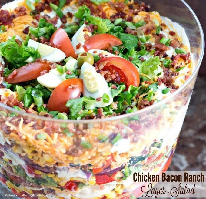 Chicken Bacon Ranch Layer Salad...these are the BEST Salad Recipes!