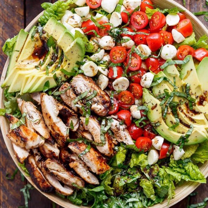 Chicken Avocado Capri Salad...these are the BEST Salad Recipes!