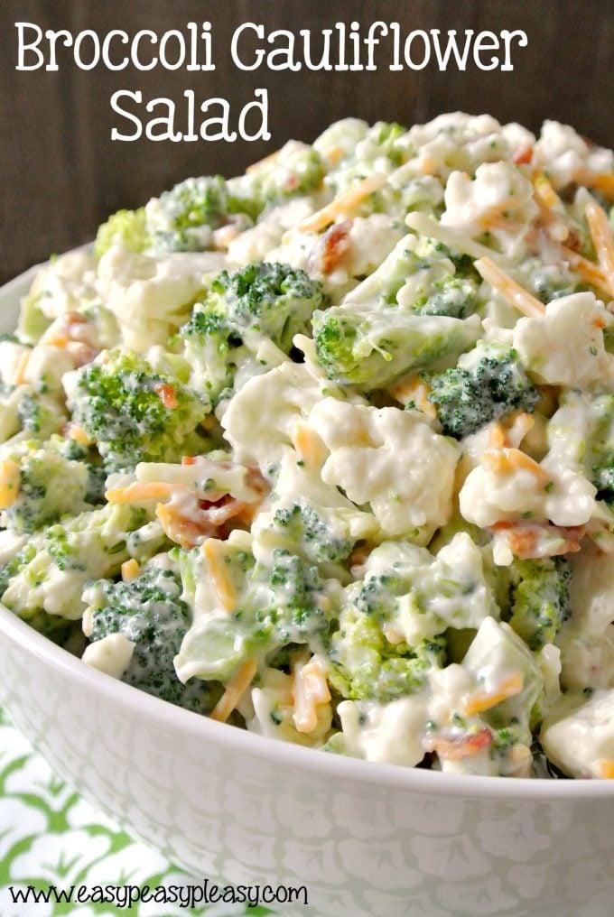 Broccoli Cauliflower Salad...these are the BEST Salad Recipes!
