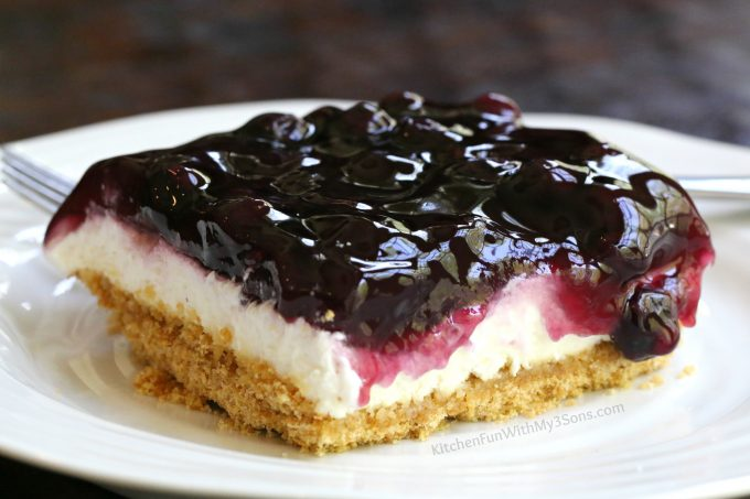 Easy Lemon Blueberry Cheesecake Dessert