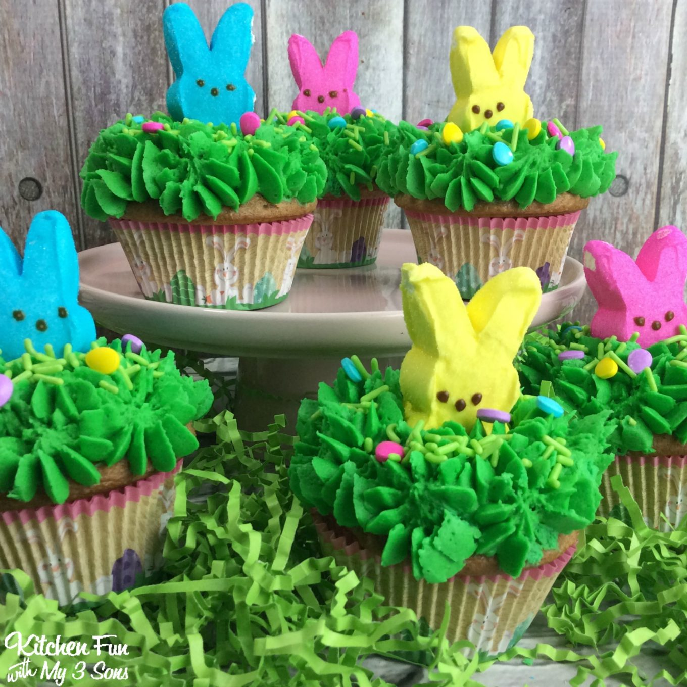 Peeps Easter Bunny Cupcakes Kitchen Fun With My 3 Sons