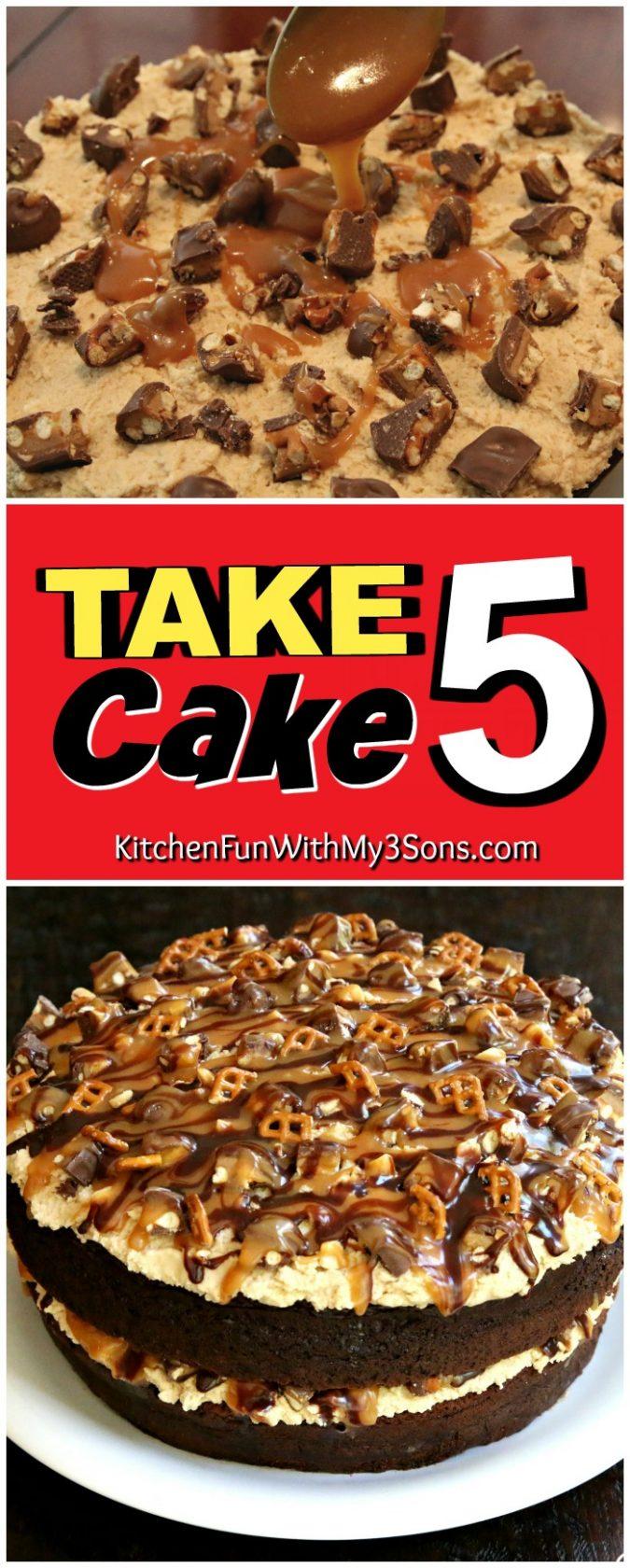 Take 5 Candy Bar Cake Recipe!