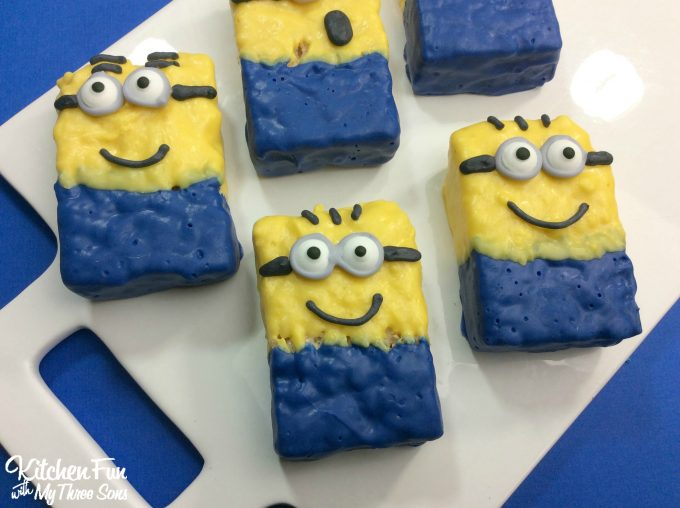 Minion Rice Krispies Treats