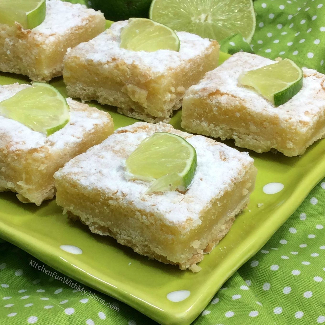 Easy Key Lime Bars - Kitchen Fun With My 3 Sons