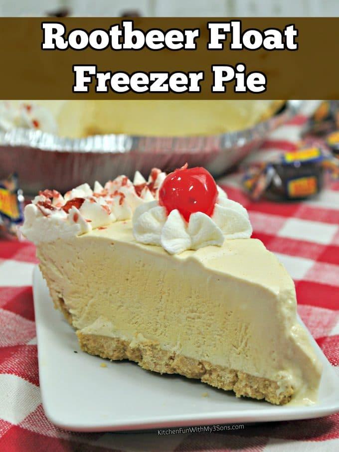 Root Beer Float Freezer Pie