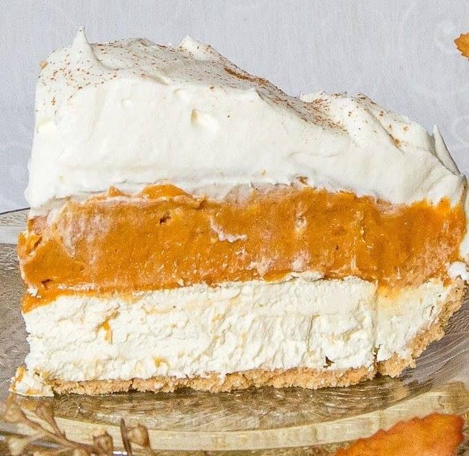 No-Bake-Triple Layer Pumpkin Pie