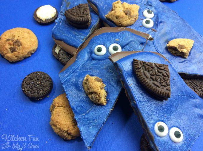 Cookie Monster Bark - Kitchen Fun With My 3 Sons