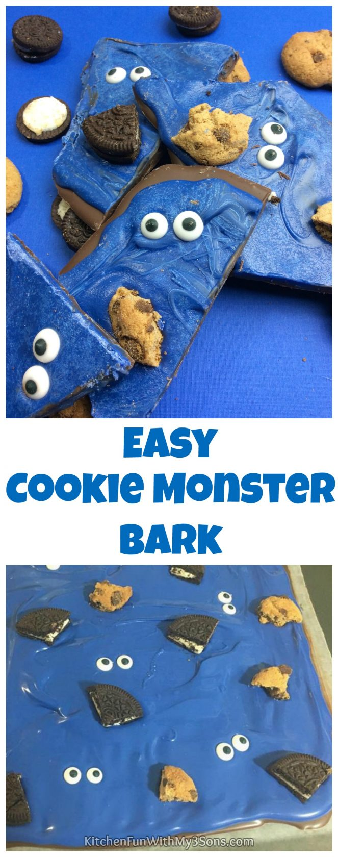 Easy Cookie Monster Bark