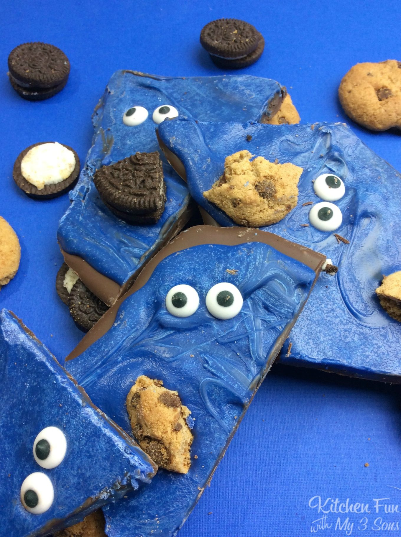 Cookie Monster Bark Kitchen Fun With My 3 Sons
