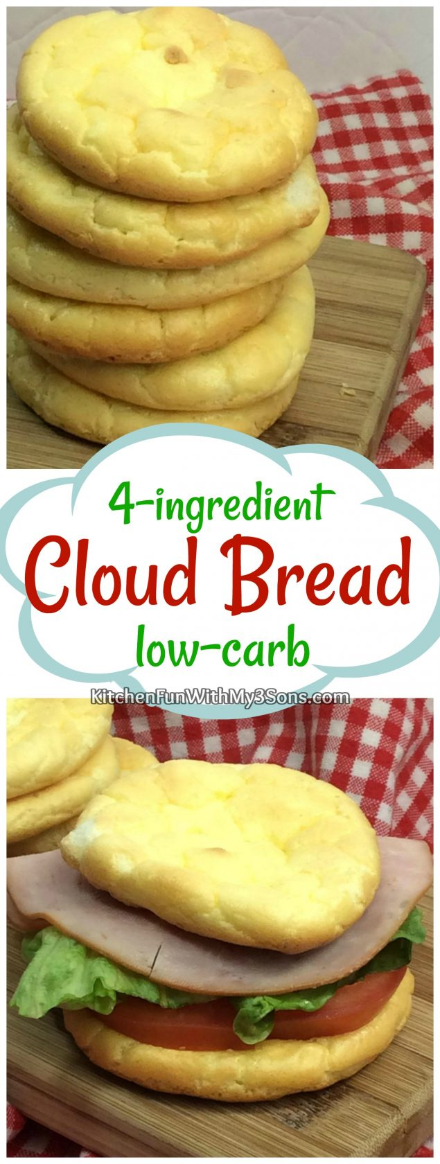 4-ingredient Low-Carb Cloud Bread