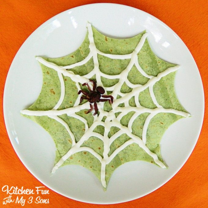 Halloween Spider Web Quesadilla