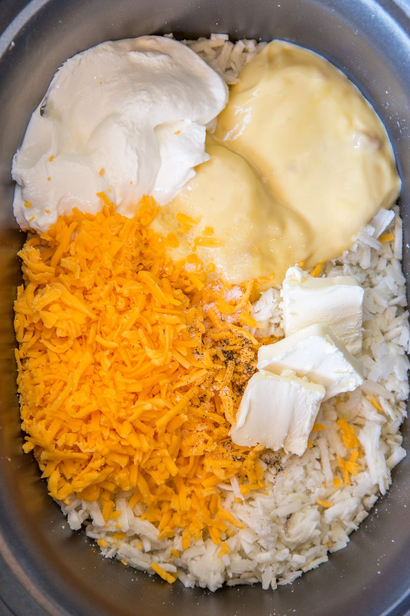 Slow Cooker Hash Brown Casserole Kitchen Fun With My 3 Sons