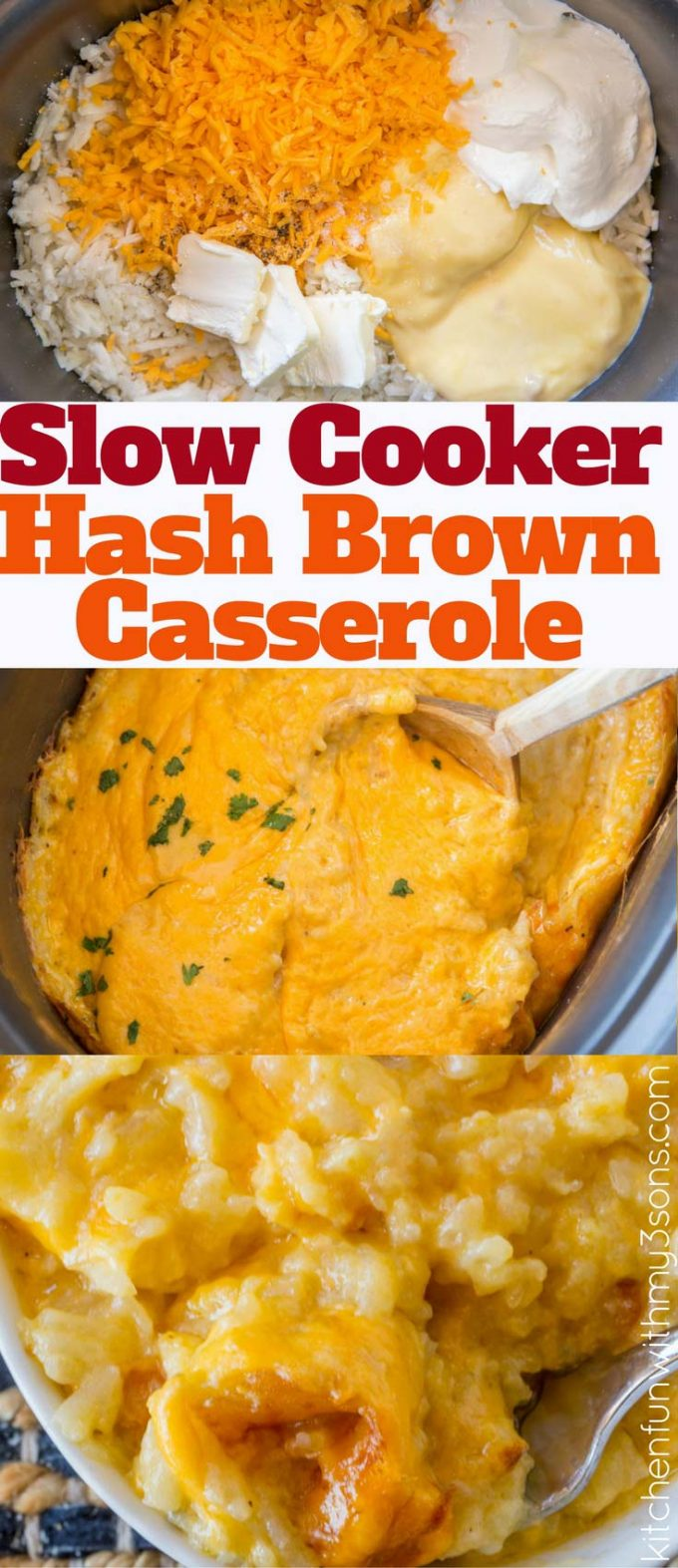 You'll LOVE this 5 Ingredient Cracker Barrel Copycat Slow Cooker Hash Brown Casserole for breakfast or brunch!