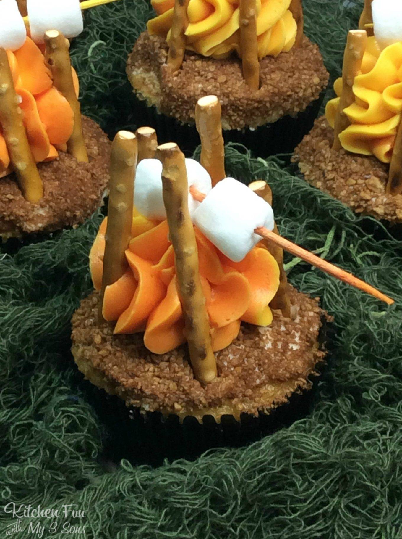 Campfire Cupcakes Kitchen Fun With My 3 Sons