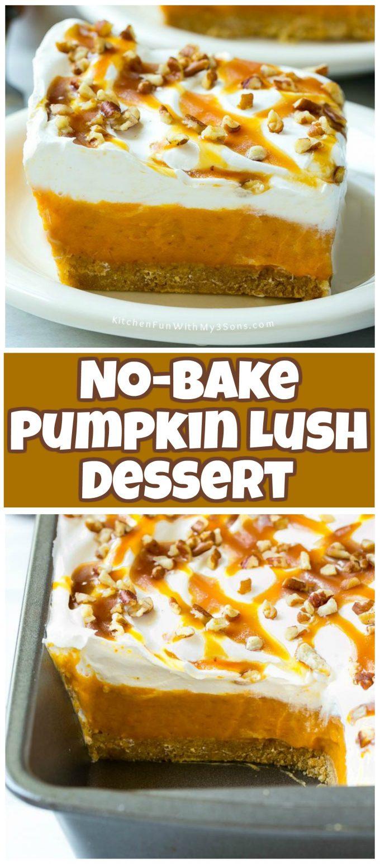 No-Bake Pumpkin Lush Dessert