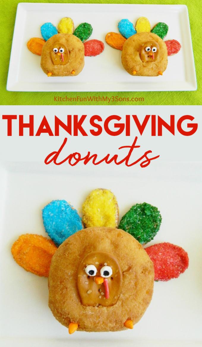 Thanksgiving Turkey Donut Treats