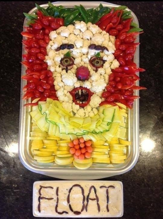 Pennywise Clown Veggie Tray