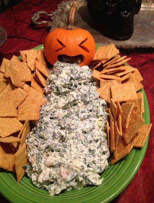 Pumpkin Vomit Dip for Halloween! ha