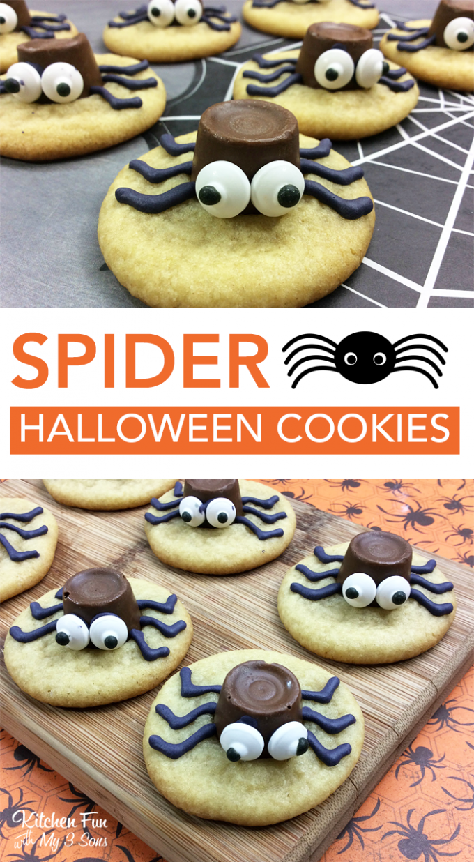 Halloween Spider Cookies Kitchen Fun With My 3 Sons
