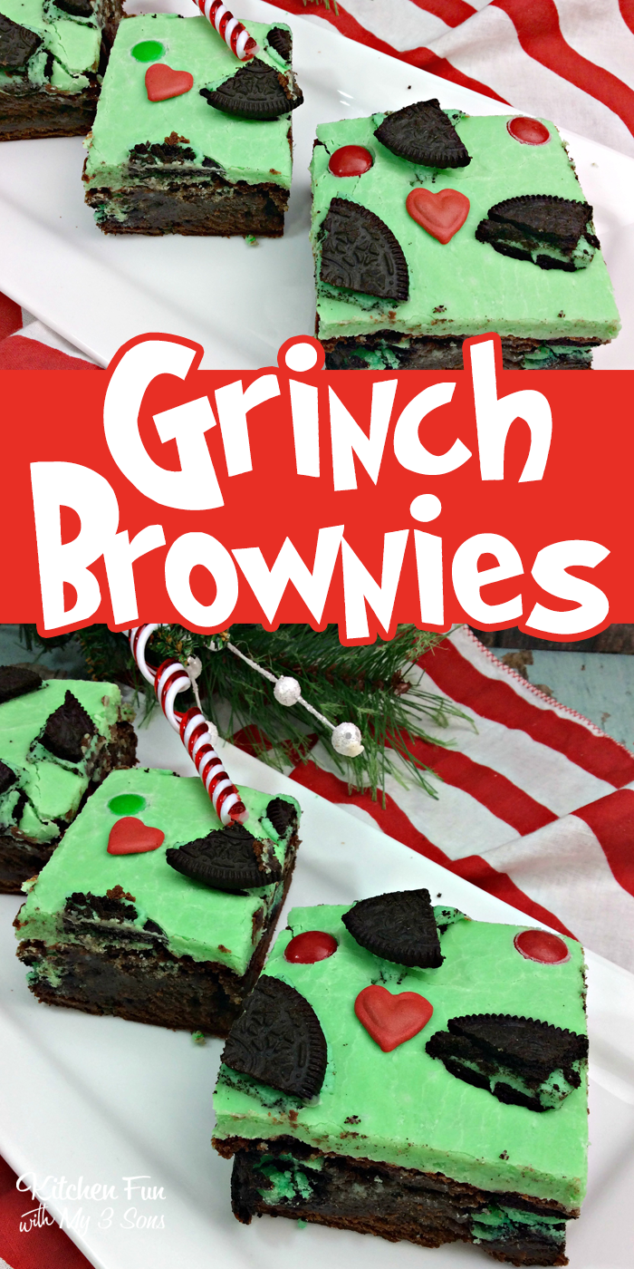christmas grinch brownies kitchen fun with my 3 sons