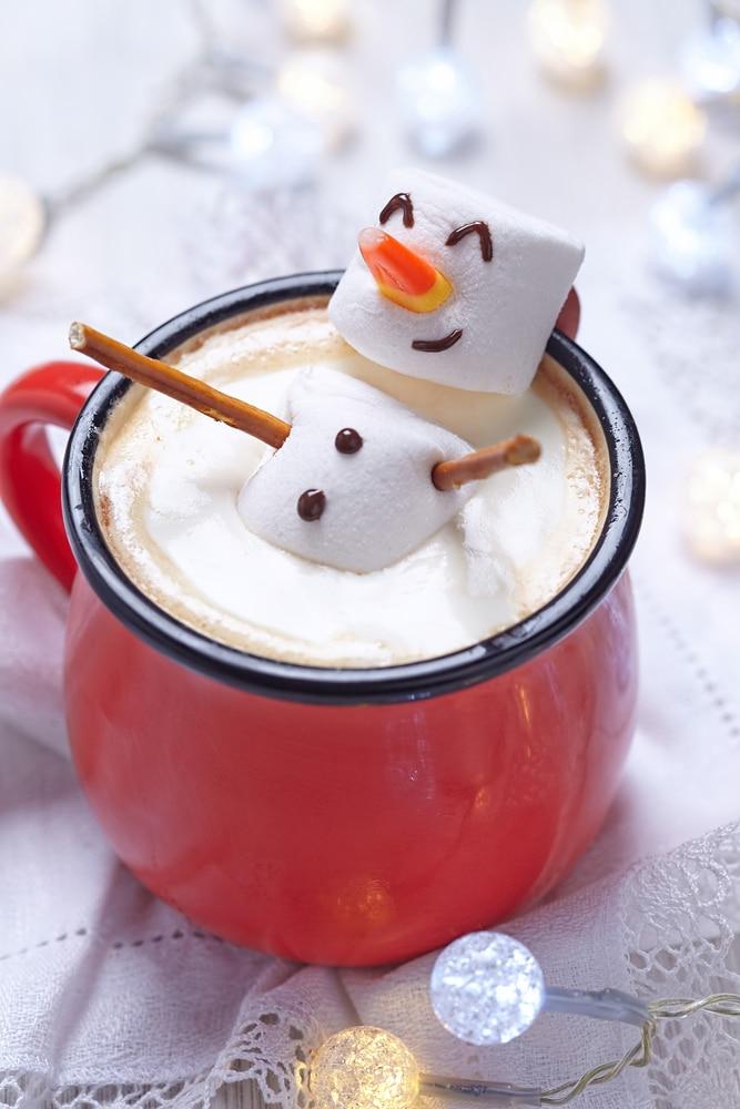 Christmas Marshmallow Snowman Hot Cocoa