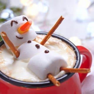 Christmas Marshmallow Snowman Hot Chocolate