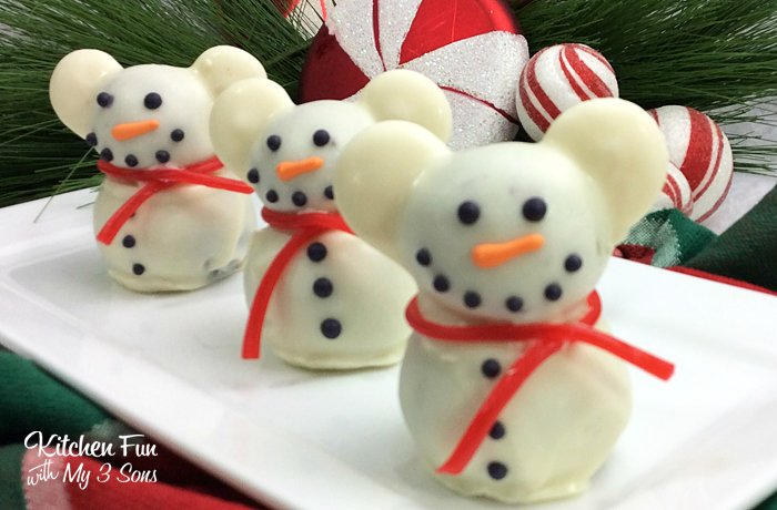 Mickey mouse snowman truffles kitchen fun with my sons