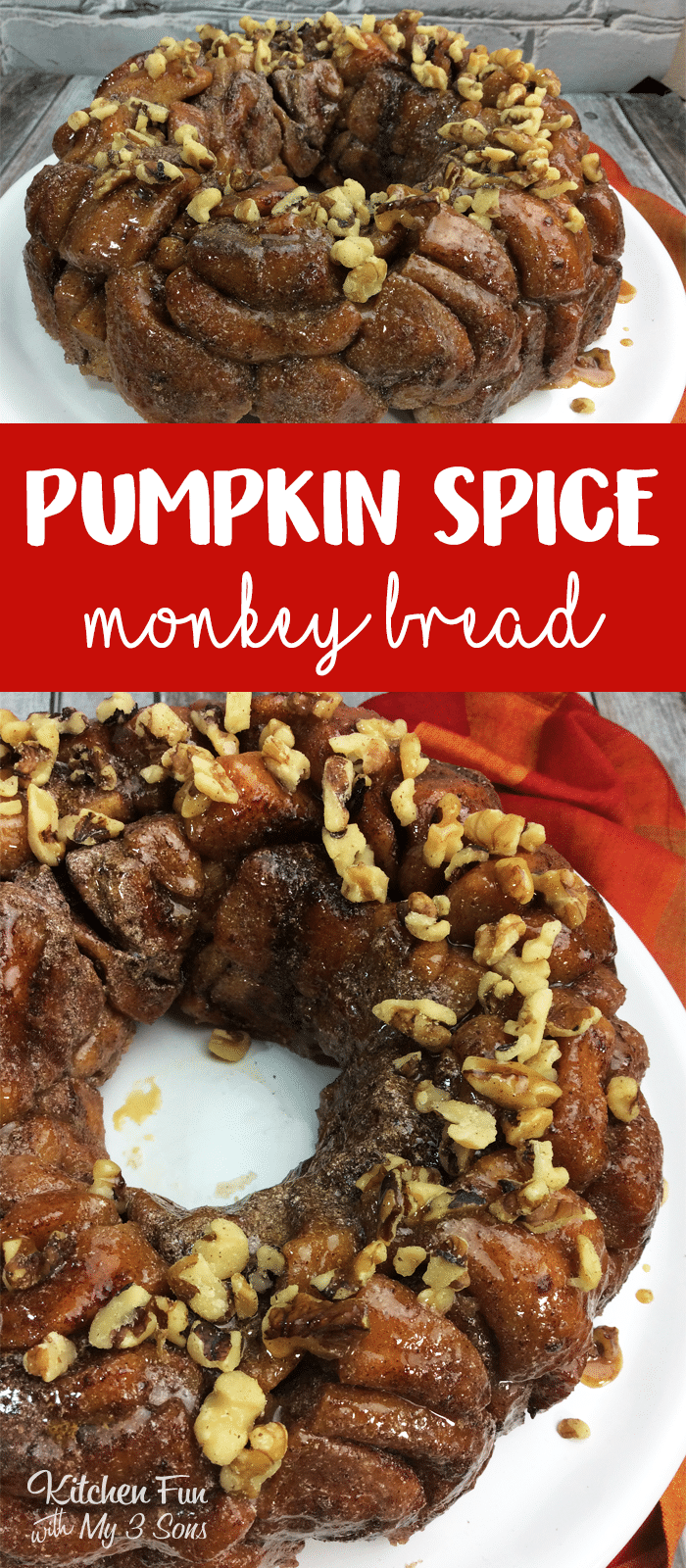 This Pumpkin Spice Monkey Bread with a cream cheese frosting and caramel sauce will warm your belly this winter. Such a delicious fall recipe.
