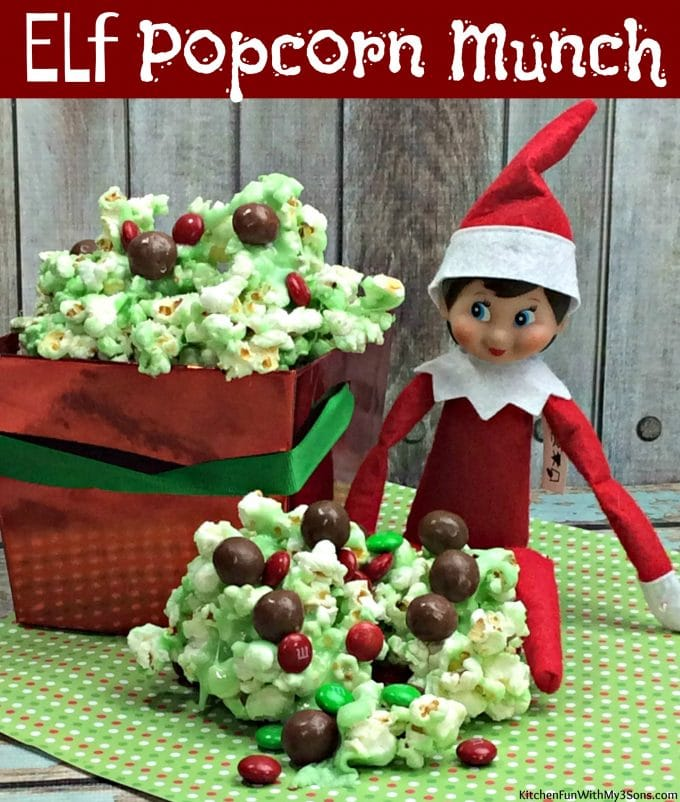 Christmas Elf Popcorn Munch