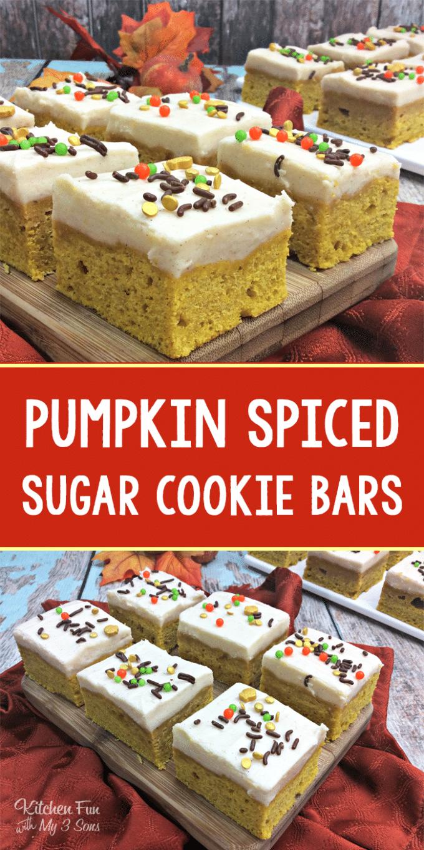 Pumpkin Spice Sugar Cookie Bars